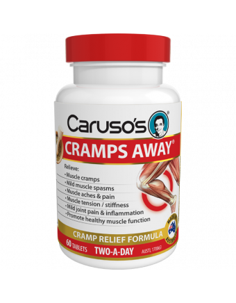 Caruso's Natural Health Cramps Away 60 Tablets