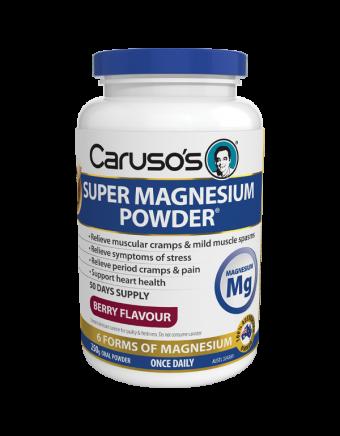 Caruso's Natural Health Super Magnesium Powder Berry 250g