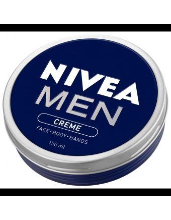 Nivea Men Crème Tin Moisturiser Face Body Hands 150mL