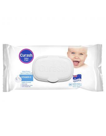 Curash Wipes Vitamin E 80 Pack