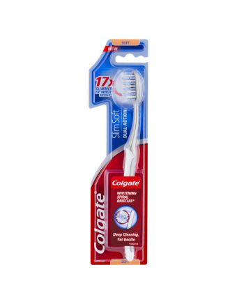 Colgate Slim Soft Dual Action Deep Cleaning & Whitening spiral bristles Soft Toothbrush