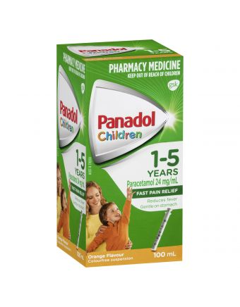 PANADOL CHILD 1-5 YRS ORANGE 100ML