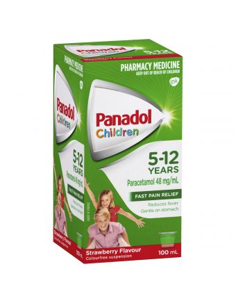 PANADOL CHILD 5-12 YRS STRAWBERRY 100ML