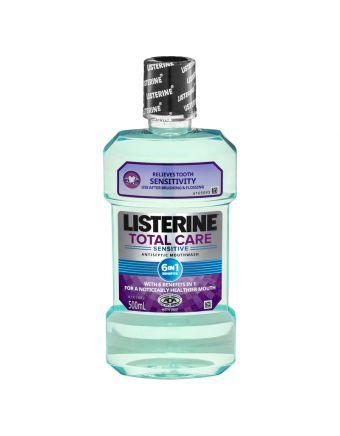 Listerine Total Care Sensitive Mouthwash 500mL
