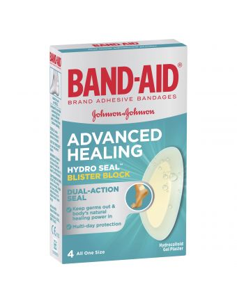 Band-Aid Advanced Healing Hydro Seal Blister Block 4 Pack