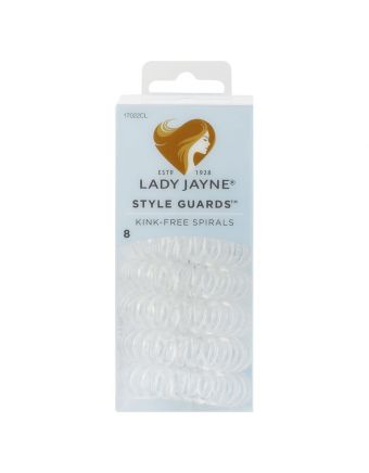 Lady Jayne Style Guards™ Kink Free Spirals, Clear, Pack 8