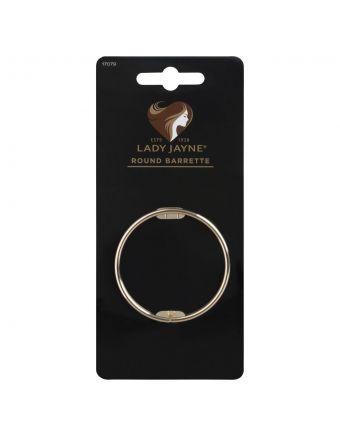 Lady Jayne Round Barrette Clip, Assorted Metallics, Pack 1