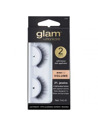 Glam by Manicare Jessica Lashes 2 Pack With Applicator