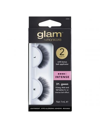 Glam by Manicare Gwen Lashes 2 Pack With Applicator