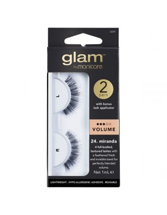 Glam by Manicare Miranda Lashes 2 Pack With Applicator