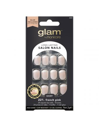Glam by Manicare 221. French Pink Short Sq 2G