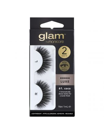 Glam by Manicare Lash Coco (Mink Luxe) 2 Pack