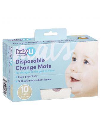 Baby U Change Mats 10 Pack
