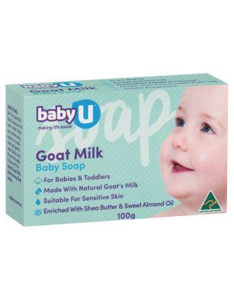 BabyU Goat Milk Baby Soap 100g