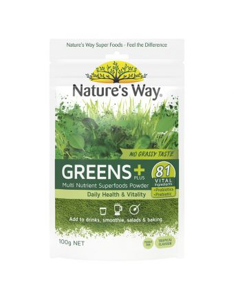 Nature's Way Super Greens Plus 100G