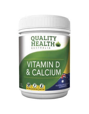 Quality Health Vitamin D & Calcium 130s