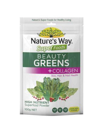 Nature's Way Superfoods Beauty Greens + Collagen 100g
