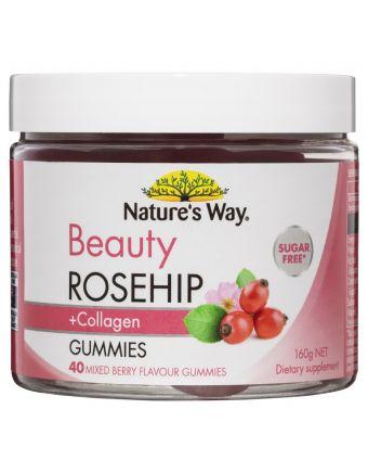 Nature's Way Beauty Rosehip + Collagen Gummies 40 Gummies