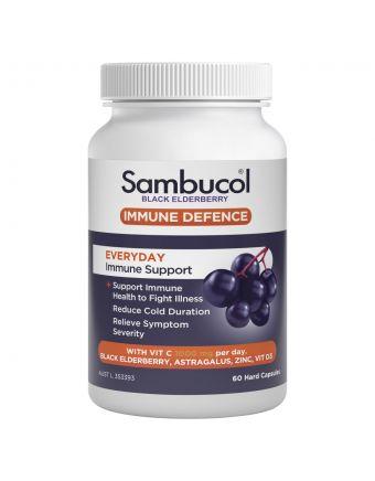 SAMBUCOL Immune Defence Everyday Immune Support caps 60s