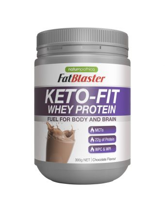 Naturopathica FatBlaster Keto-Fit Whey Protein Chocolate 300g