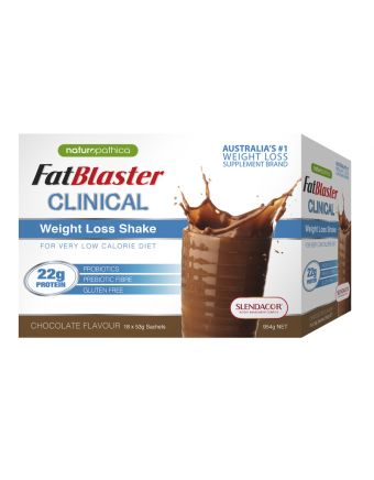 Naturopathica FatBlaster Clinical Weight Loss Shake Chocolate 18 x 53g