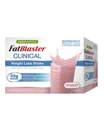 Naturopathica FatBlaster Clinical Weight Loss Shake Strw Shk 18 x 53g