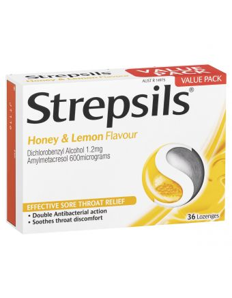 STREPSILS HONEY & LEMON LOZENGES 36