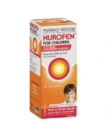 NUROFEN CHILD 5-12 YEARS STRAWBERRY 100ML