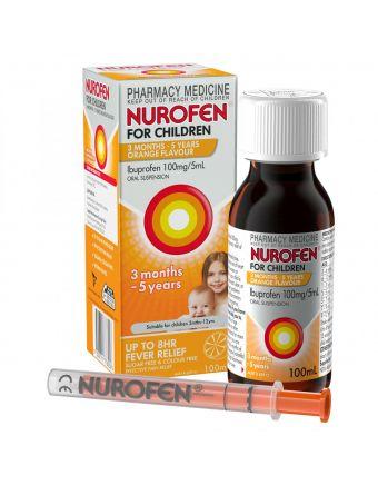NUROFEN FOR CHILD 3M-5YR ORANGE 100ML