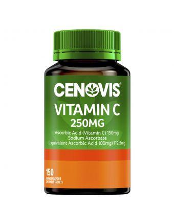 Cenovis Vitamin C 250Mg Orange Flavour Tablets 150