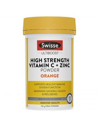 Swisse Ultiboost Vitamin C + Zinc Powder Orange 150G