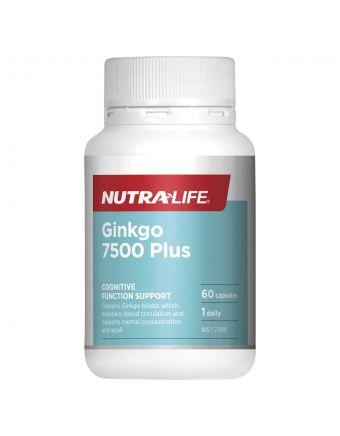 Nutra-Life Ginkgo 7500 Plus 60 capsules