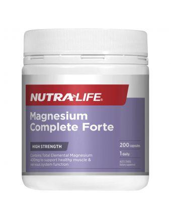 Nutra-Life Magnesium Forte Daily 200 Capsules