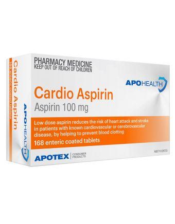 APO CARDIO ASPIRIN TAB 168