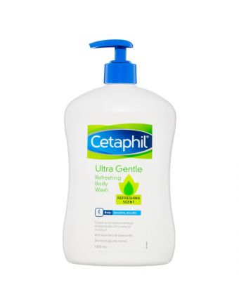 Cetaphil Ultra Gentle Body Wash Refreshing Scent 1L