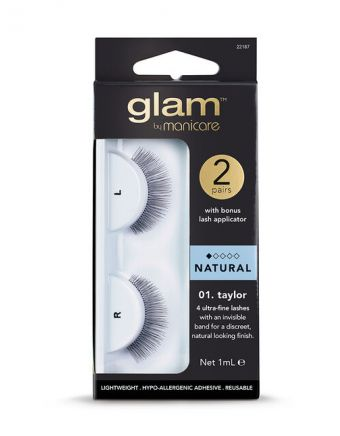 Glam by Manicare Taylor Lashes 2 Pack With Applicator