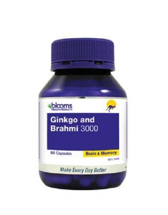 Henry Blooms Ginkgo And Brahmi 3000 60 Vegetarian Capsules
