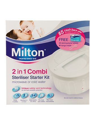 Milton 2 in 1 Combi Sterilisation Starter Kit