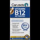 Caruso's Natural Health Vitamin B12 Activated 60 Melts