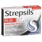 Strepsils Plus Blocked Nose Relief Sore Throat Lozenges 36 Pack