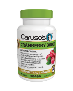 Caruso's Natural Health Cranberry 30000 90 Tablets