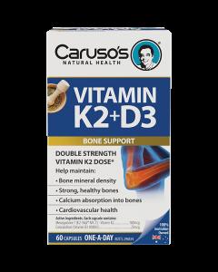 Caruso's Natural Health Vitamin K2 + D3 60 Capsules