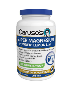 Caruso's Natural Health Super Magnesium Powder Lemon 250g