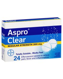ASPRO CLEAR 300MG TAB 24
