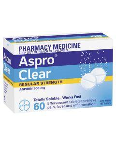 ASPRO CLEAR 300MG TAB 60