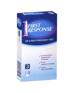 First Response Dip and Read Pregnancy Test 3 Pack
