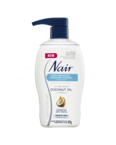 Nair Sensitive Hair Removal Shower Cream with Coconut Oil 357g