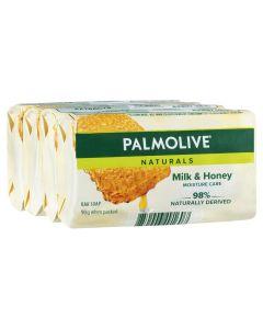 PALMOLIVE NATURALS SOAP MILK & HONEY 4PK 90G