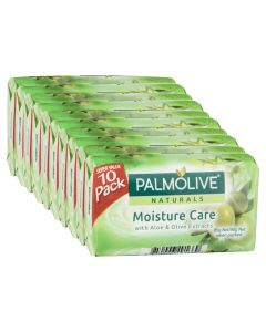 Palmolive Naturals Bar Soap Moisture Care Aloe & Olive Extracts 10 x 90g