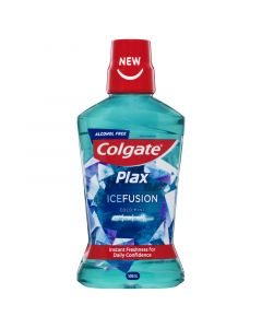 Colgate Plax Ice Fusion Antibacterial Alcohol Free Mouthwash Cold Mint 500mL